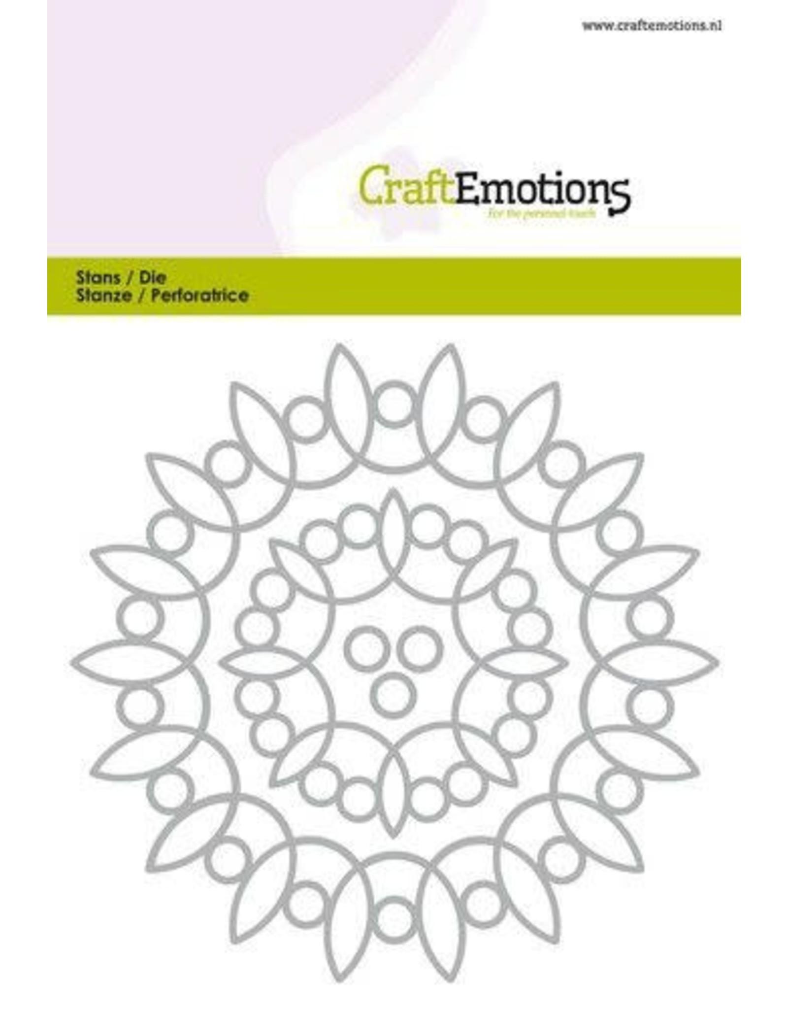 Craft Emotions CraftEmotions Die - frames art rond Card 10,5x14,8cm - 5,5cm - 10,5cm