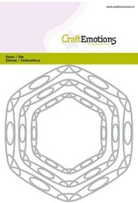 Craft Emotions CraftEmotions Die - frames art hexagon Card 10,5x14,8cm - 6,5 - 11cm