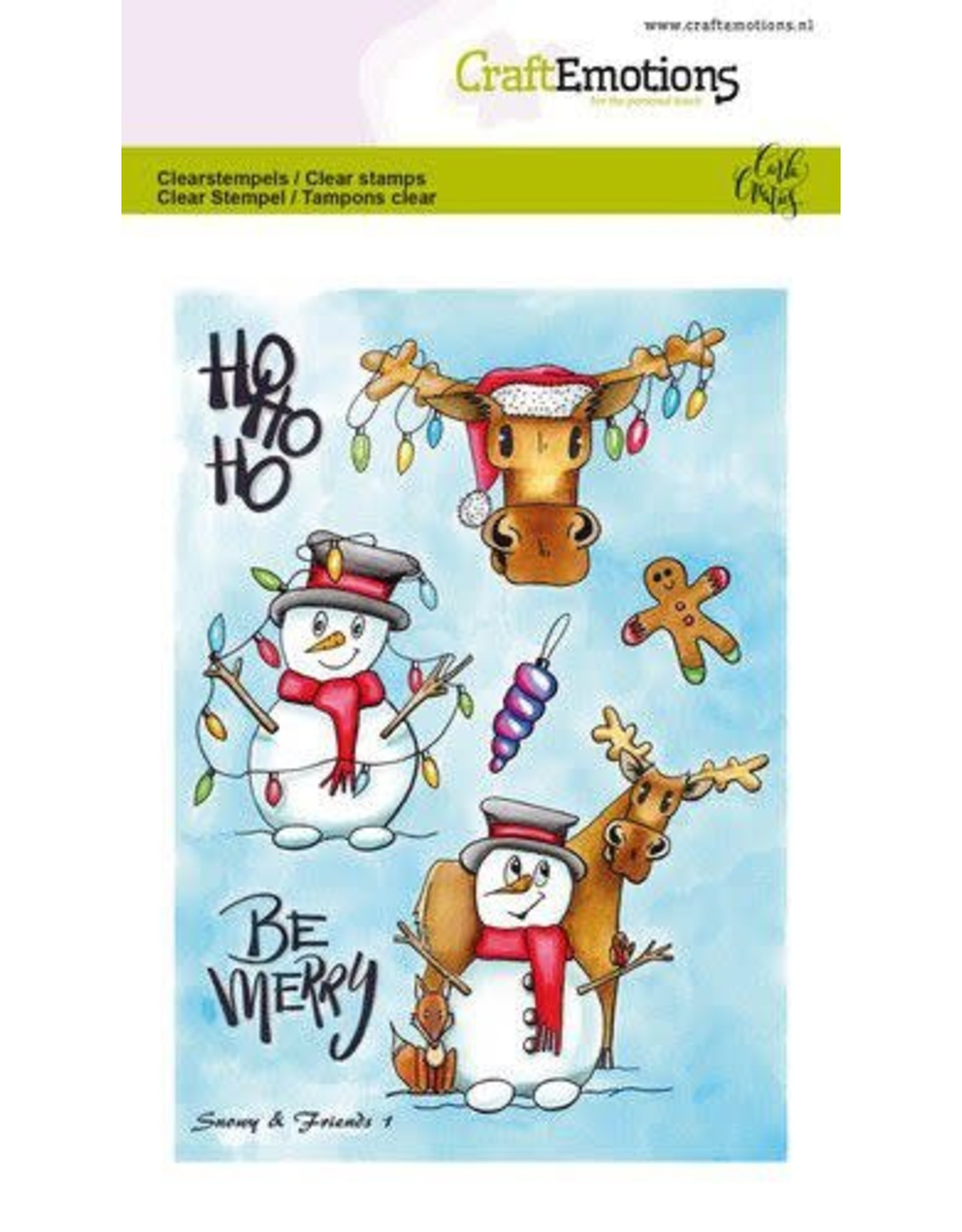 Craft Emotions CraftEmotions clearstamps A6 - Snowy & friends 1 Carla Creaties