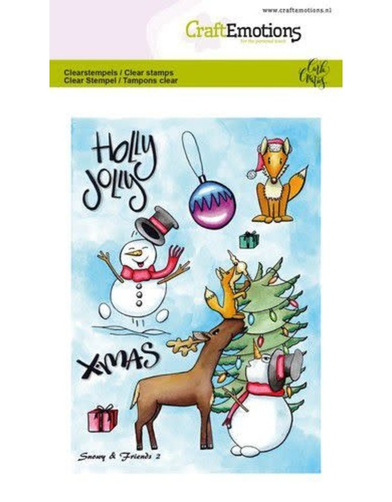 Craft Emotions CraftEmotions clearstamps A6 - Snowy & friends 2 Carla Creaties