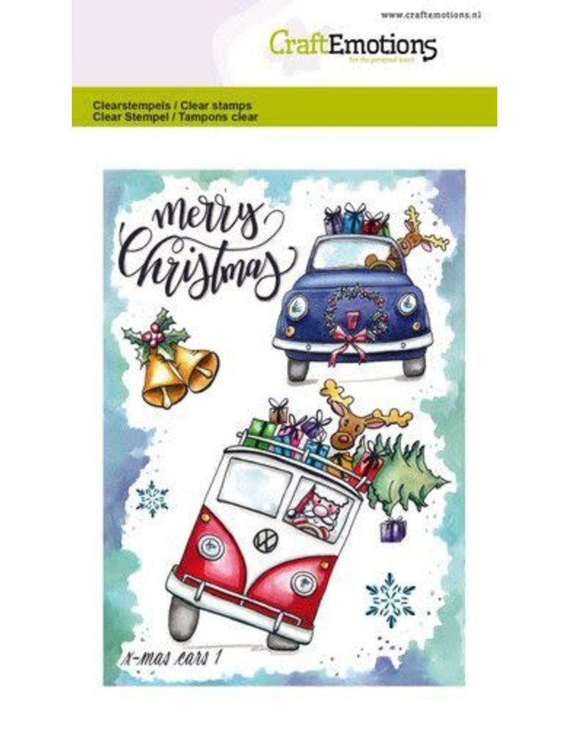 Craft Emotions CraftEmotions clearstamps A6 - x-mass cars 1 Carla Creaties
