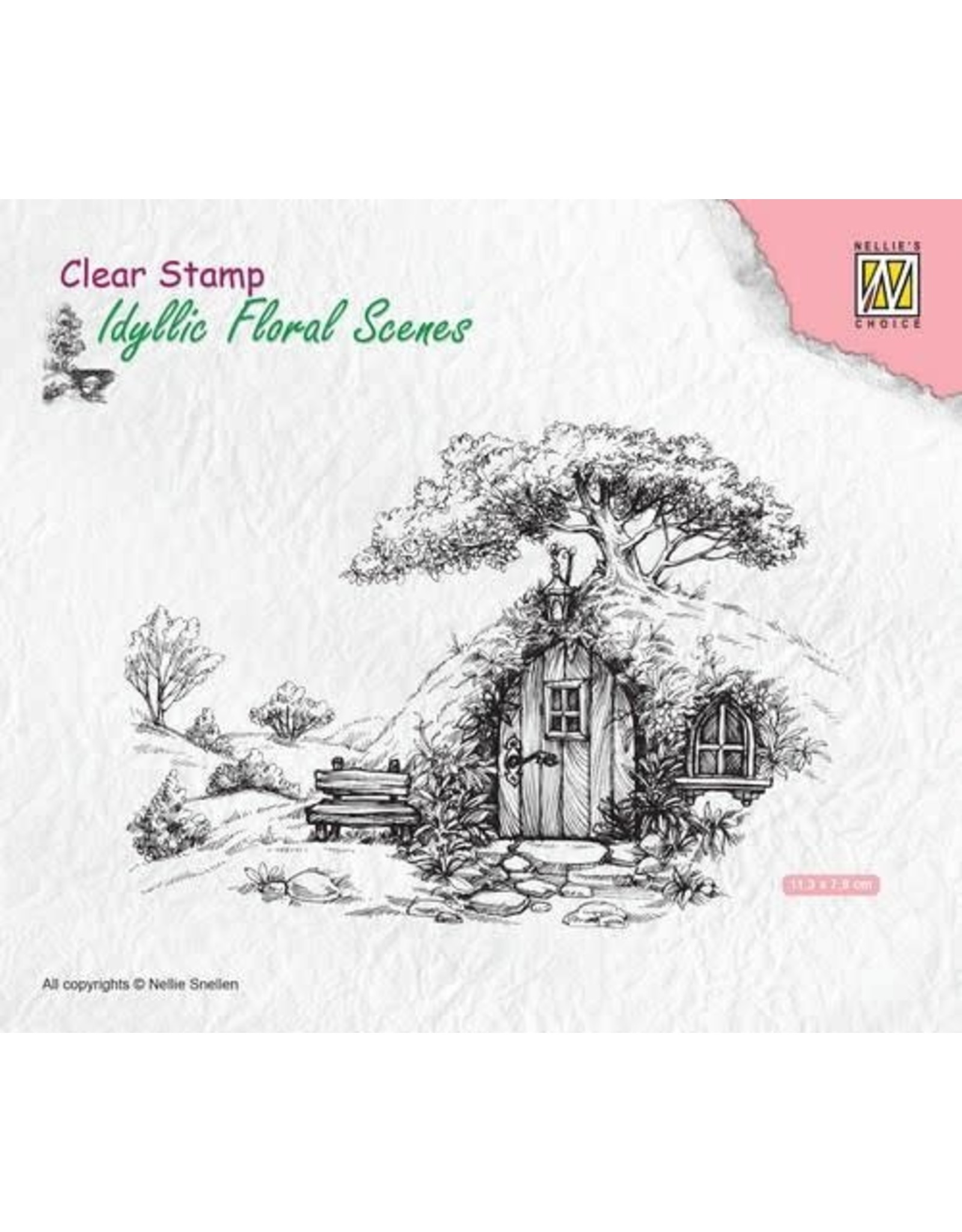 Nellie's Choice Nellie's Choice Clearstamp - Scene oud huis IFS012 113x70mm