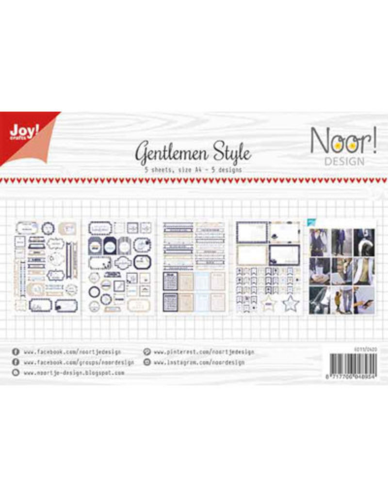 Joy Craft Joy Crafts Labelvellen/knipvel Gentlemen Style 6011/0420