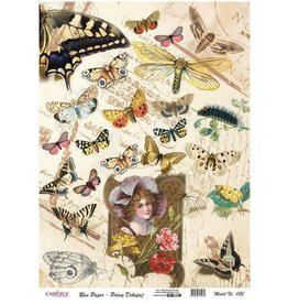 Cadence Cadence rijstpapier Vintage - vlinders Model No: 083