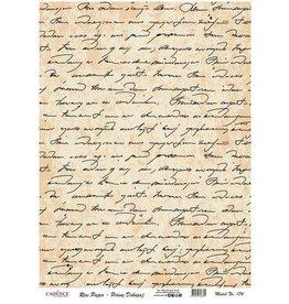 Cadence Cadence rijstpapier geschreven tekst Model No: 174