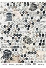 Cadence Cadence rijstpapier typemarchine - letters Model No: 186