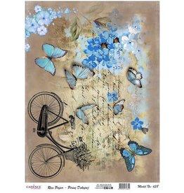 Cadence Cadence rijstpapier fiets - vlinders Model No: 638