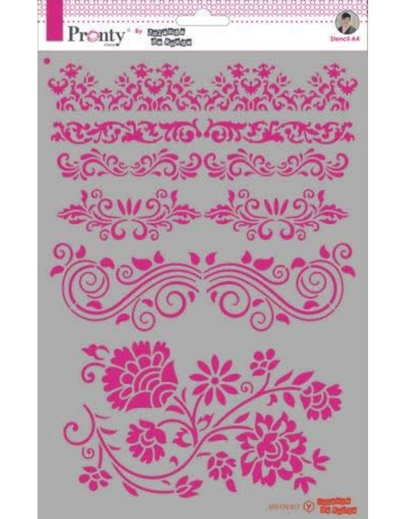 Pronty Pronty Mask Barok borders A4 470.770.017 by Jolanda