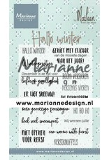 Marianne Design Marianne D Clear Stamps Marleen's Hallo winter (NL) CS1036