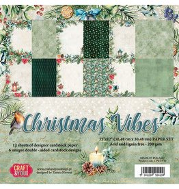Craft & You Craft&You Christmas Vibes BIG Paper Set 12x12 12 vel CPS-CV30
