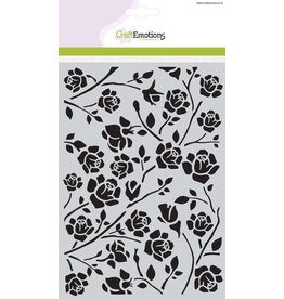Craft Emotions CraftEmotions Mask stencil Botanical rozen A5