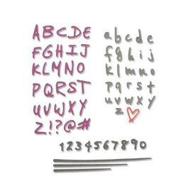 Sizzix Sizzix Thinlits Die Set - 4PK Doodle Alphabet & Numbers 663408 Sophie Guilar
