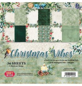 Craft & You Craft&You Christmas Vibes Small Paper Pad 6x6 36 vel CPB-CV15