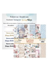 Scrapboys ScrapBoys - Cotton Winter - Paperpad 15 x 15 cm COWI-09