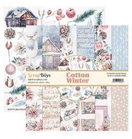 Scrapboys ScrapBoys - Cotton Winter - Paperpad 30,5 x 30,5 cm    COWI-08