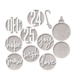 Sizzix Sizzix Thinlits Die Set - 12PK Circle Words, Christmas 664205 Tim Holtz