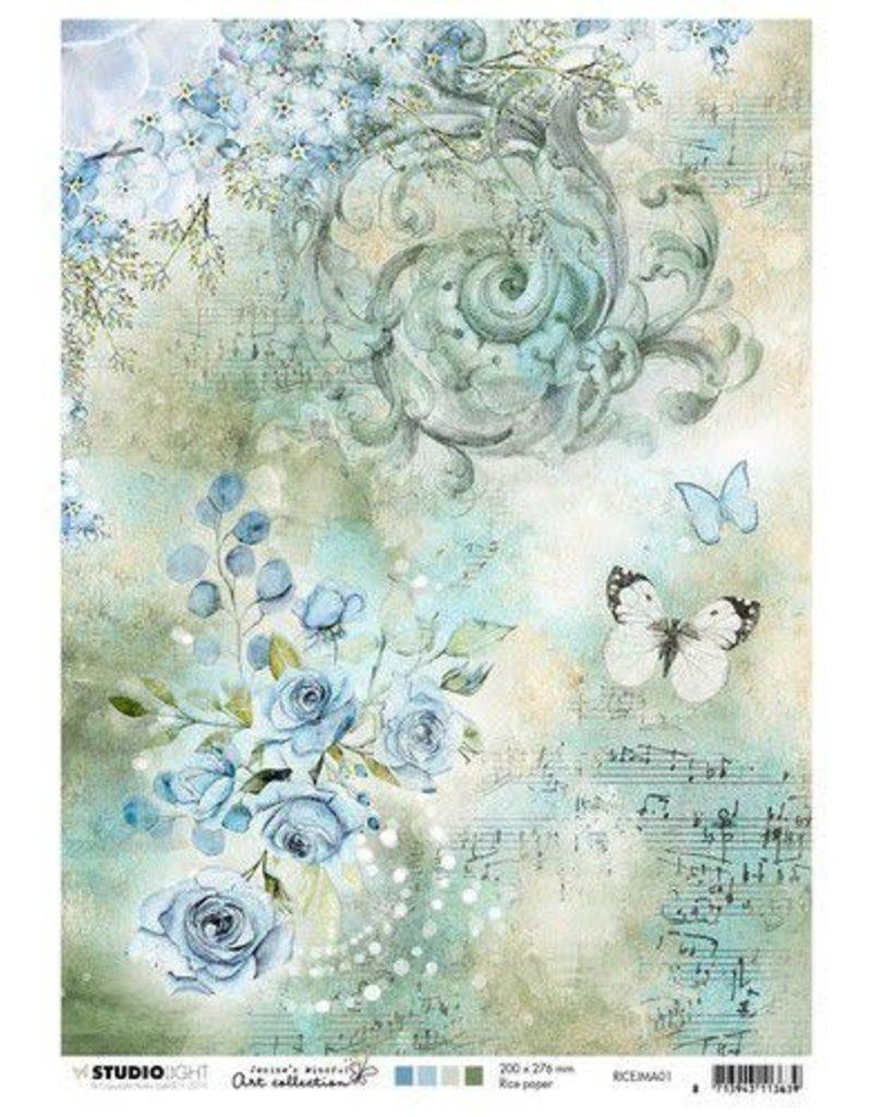 Studio Light Studio Light Rice Paper A4 vel Jenine's Mindful nr 01 RICEJMA01