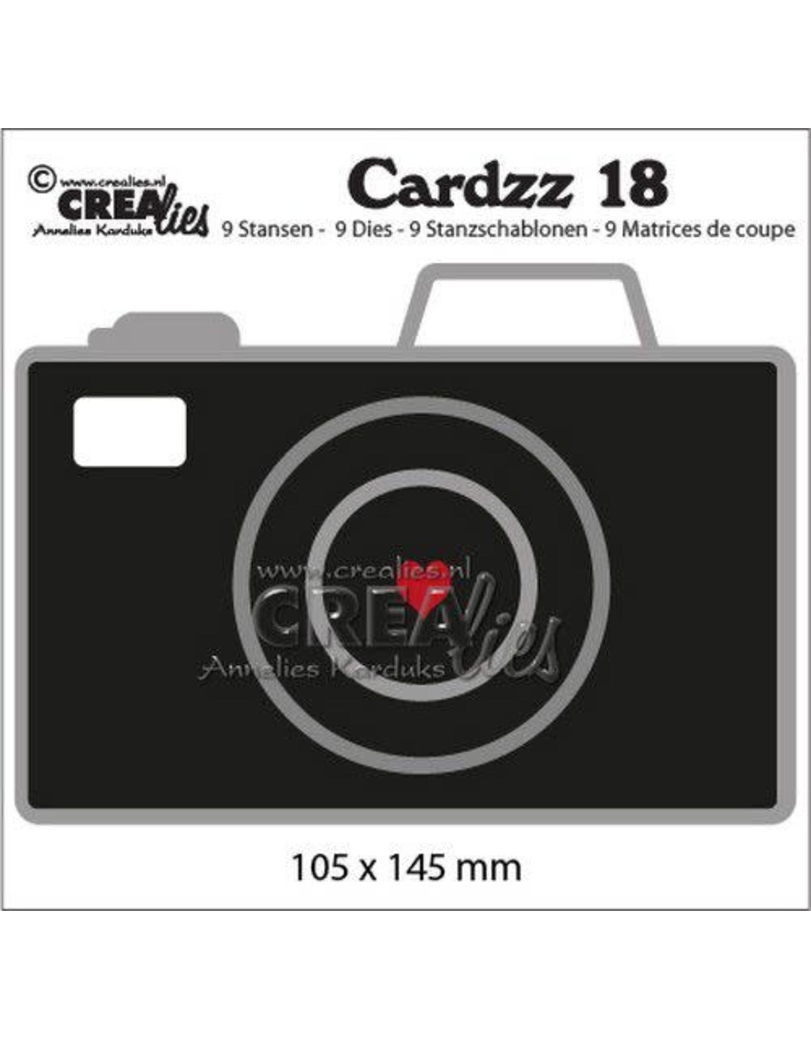 Crealies Crealies Cardzz no 18 Camera CLCZ18 105x145mm