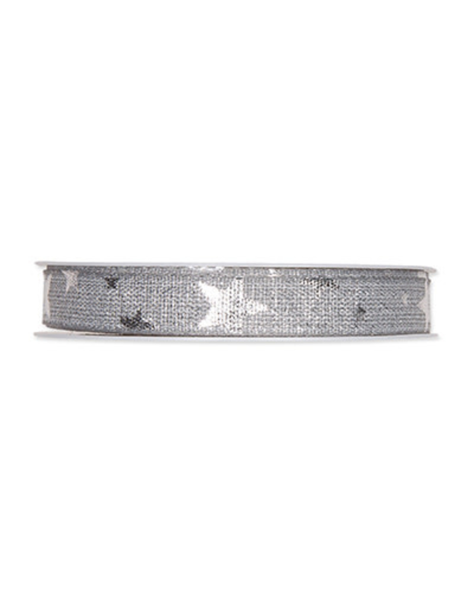 Halbach Halbach Printed Lurex Ribbon Stars Light Grey/Silver
