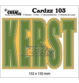 Crealies Crealies Cardzz no 103 KERST (NL) CLCZ103 102x150mm