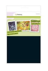 Craft Emotions CraftEmotions ProSilkCard - luxe glad karton zwart 10 vl A4 - 300 gr