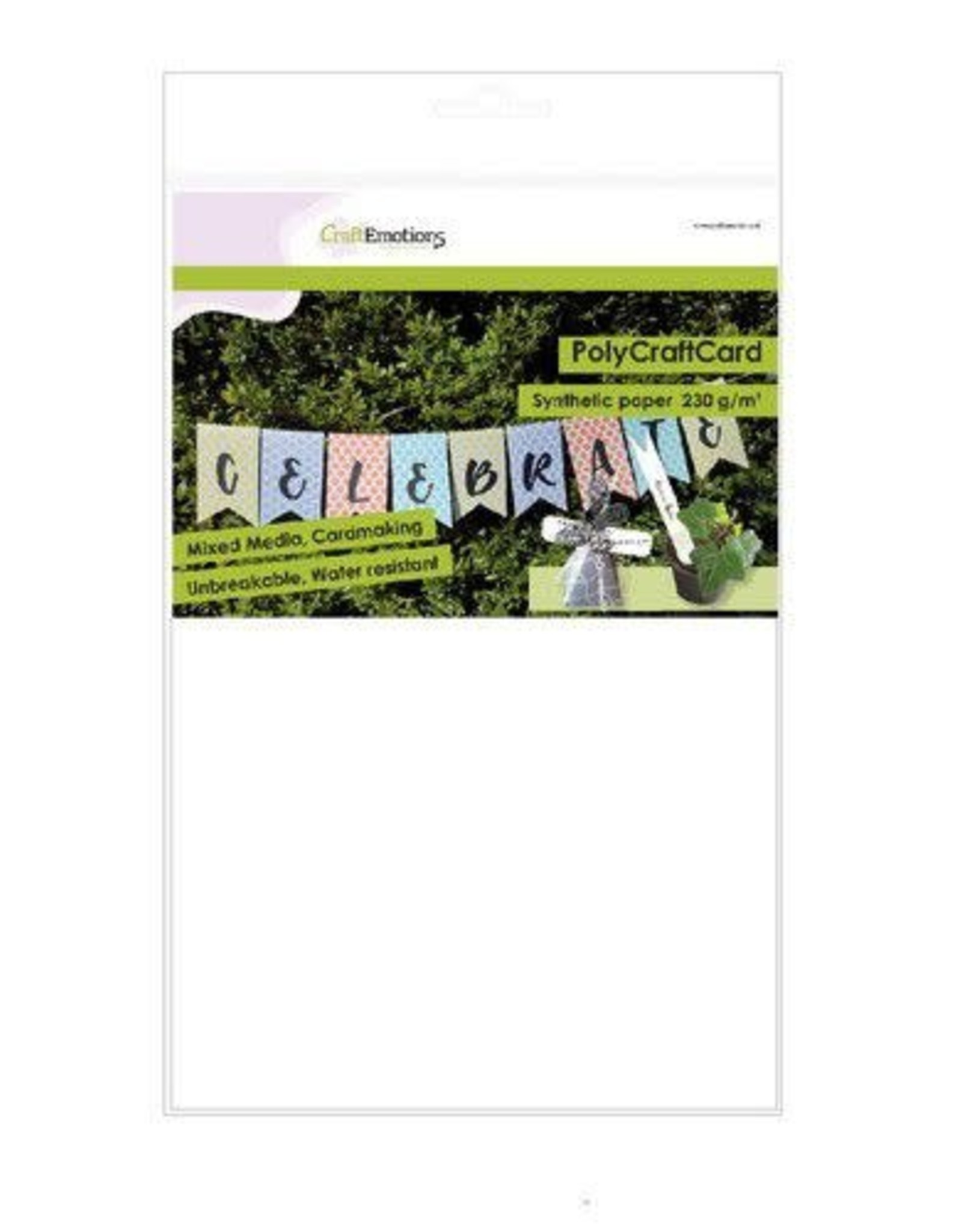 Craft Emotions CraftEmotions Synthetisch papier - PolyCraftCard wit 10 vl A4 - 230 gr