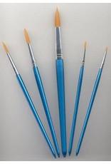 Craft Emotions Penselen set nylon 5x rond 5 ST
