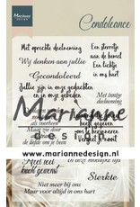 Marianne Design Marianne D Clear Stamps Condoleance (NL) CS1041