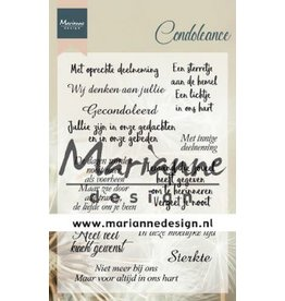 Marianne Design Marianne D Clear Stamps Condoleance (NL) CS1041
