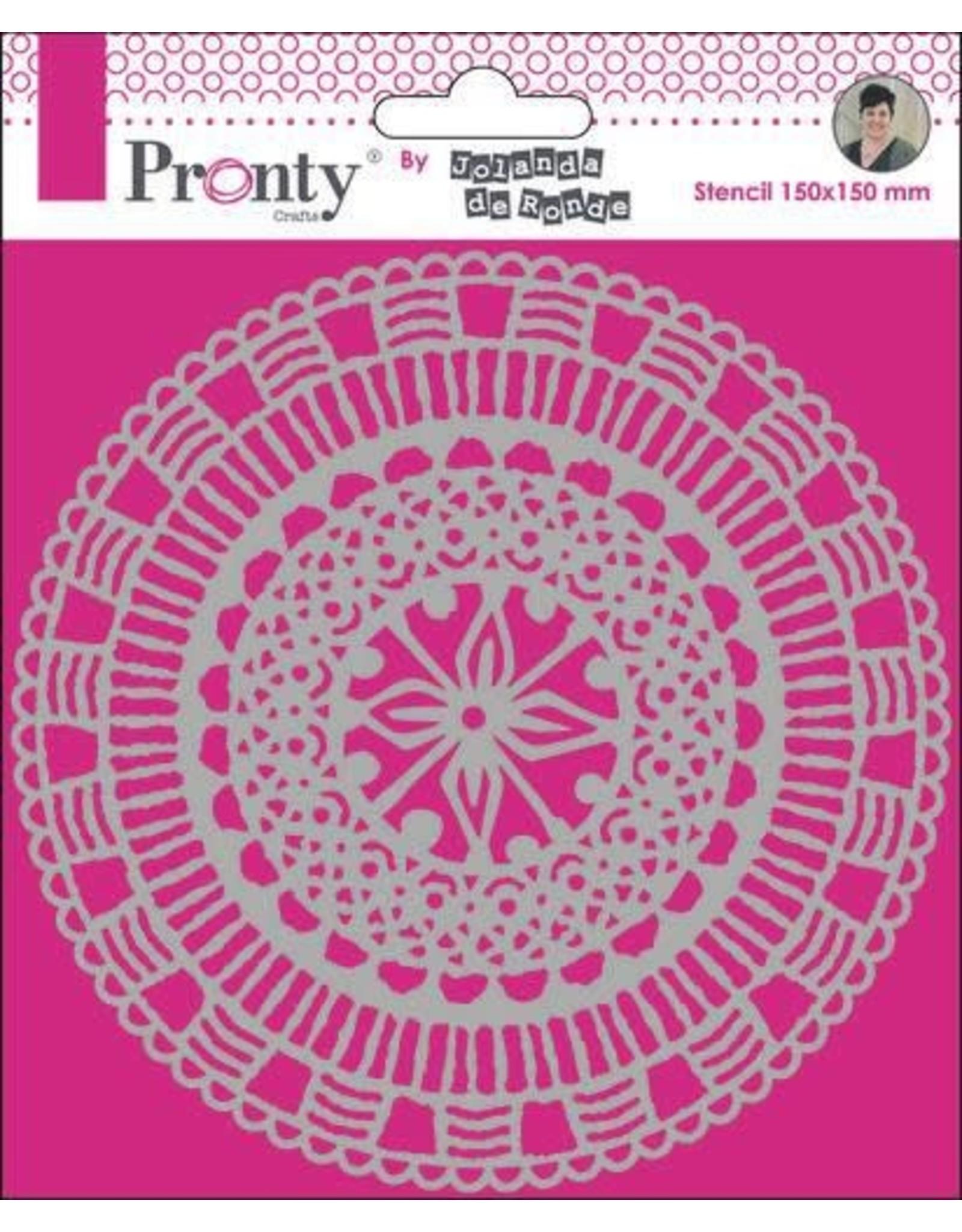 Pronty Pronty Mask Mandala Circle by Jolanda 15x15 470.770.022 by Jolanda