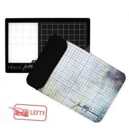 Tonic Studios Tonic Studios Tools - Travel Glass media mat (40,0x26,0cm) Linkshandig 2632e Tim Holtz