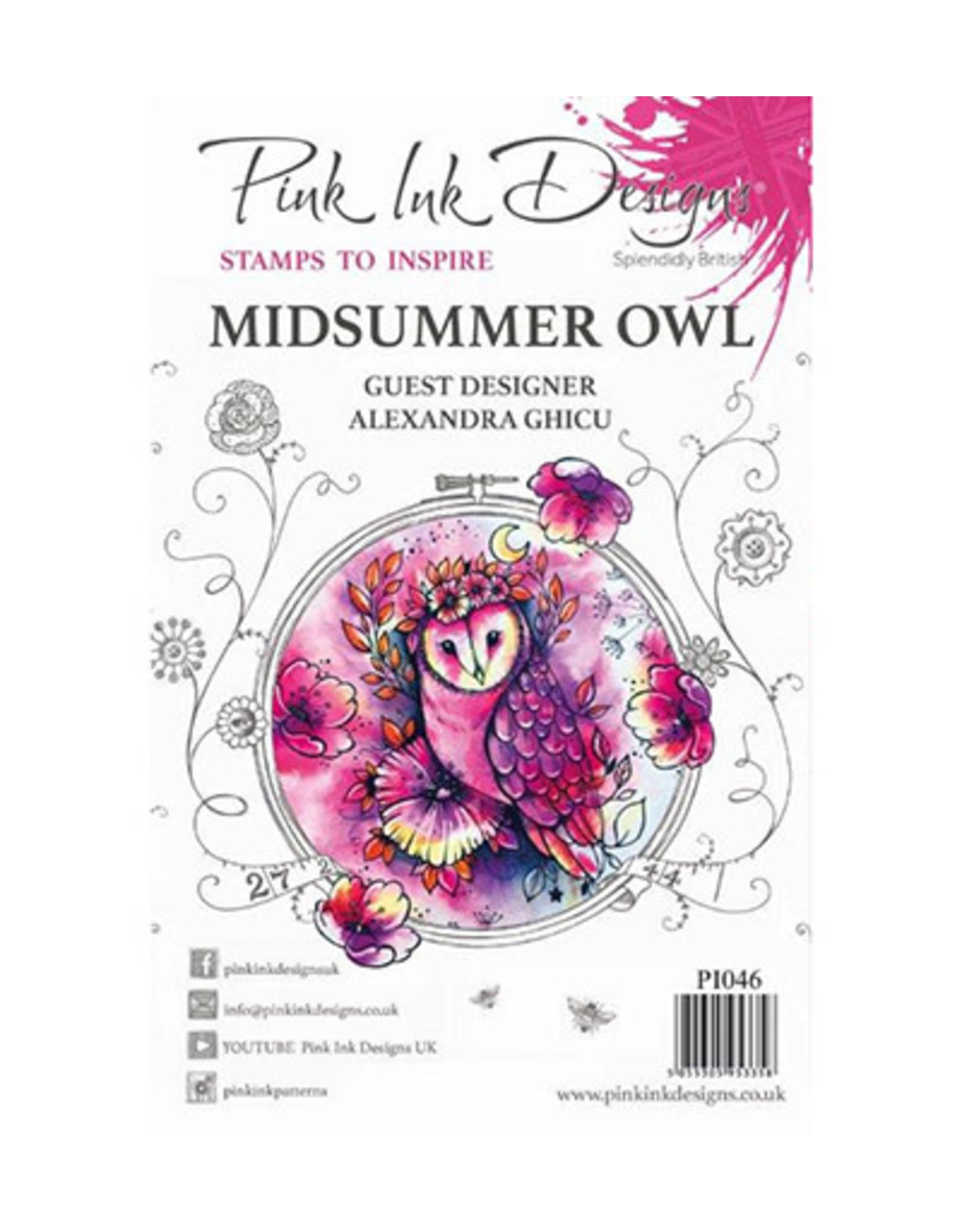 Creative Expressions Pink Ink Designs Midsummer Owl PI046