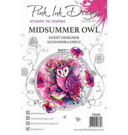 Creative Expressions Pink Ink Designs Midsummer Owl PI046