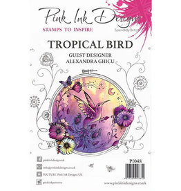 Creative Expressions Pink Ink Designs Tropical Bird PI048