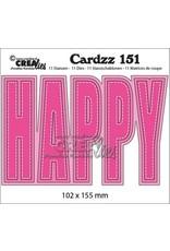 Crealies Crealies Cardzz no 151 HAPPY (ENG) CLCZ151 102x155mm