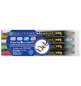 Zig Zig Clean Color Dot Metallic 4 color set
