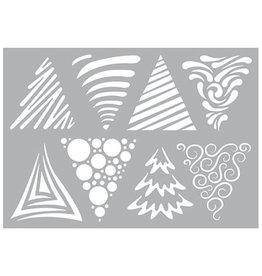 Pronty Pronty Stencil Christmas Trees  470.802.076