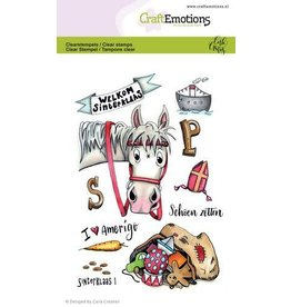 Craft Emotions CraftEmotions clearstamps A6 - Sint 1 Carla Creaties