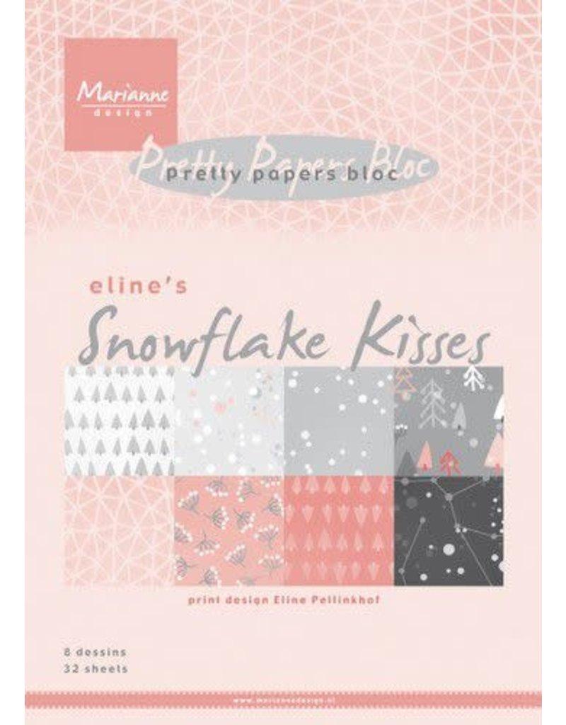 Marianne Design Marianne D Paperpad Eline's Snowflake kisses A5 PB7057