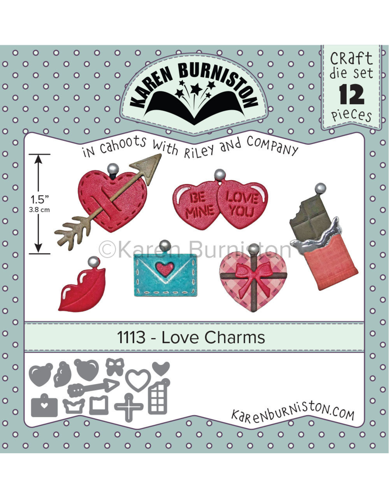 Karen Burniston Karen Burniston Love Charms 1113