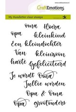 Craft Emotions CraftEmotions clearstamps A6 - handletter - Opa & Oma (NL) Carla Kamphuis
