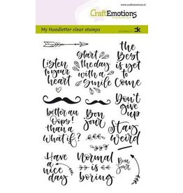 Craft Emotions CraftEmotions clearstamps A6 - handletter - Quotes 1 (Eng) Carla Kamphuis