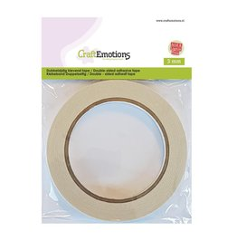 Craft Emotions CraftEmotions Dubbelzijdig klevend tape 3 mm 20 MT 1 RL