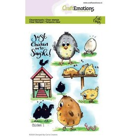 Craft Emotions CraftEmotions clearstamps A6 - Chicken 1 Carla Creaties