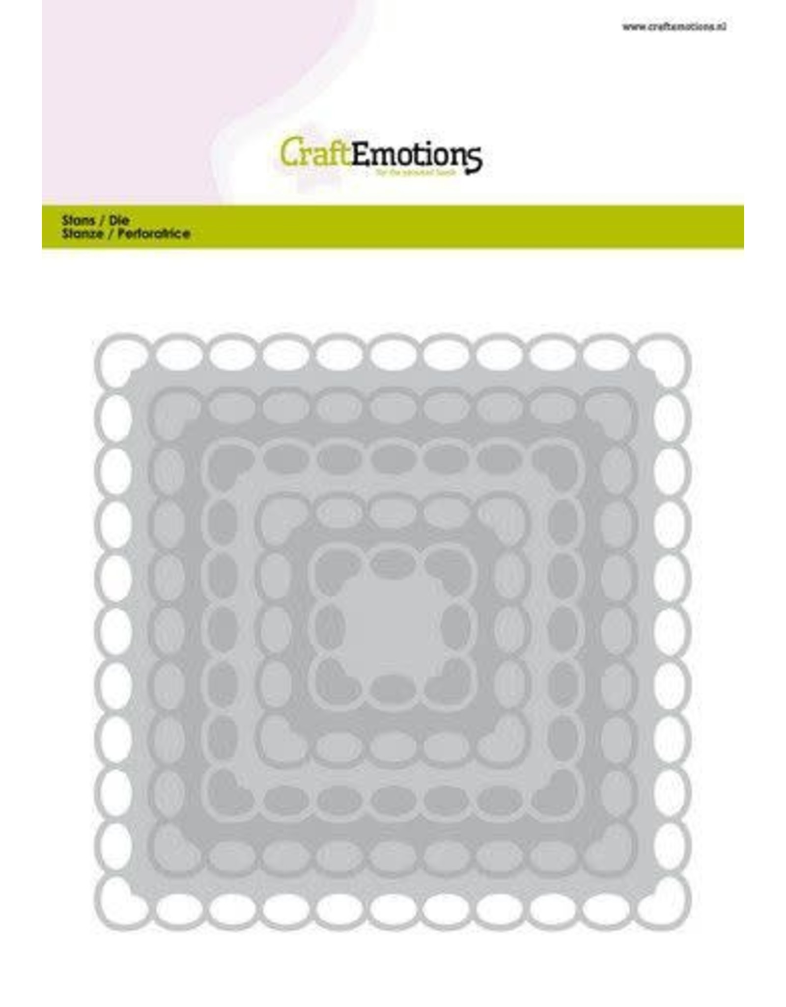 Craft Emotions CraftEmotions Big Nesting Die - vierkanten scalop XL oval Card 150x160 6,8-15,0cm