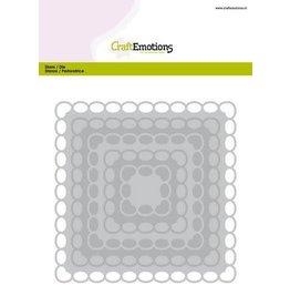 Craft Emotions CraftEmotions Big Nesting Die - vierkanten scalop XL oval Card 150x160 6,8-15,0cm