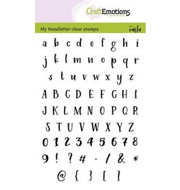 Craft Emotions CraftEmotions clearstamps A6 - handletter - alfabet Typewriter Carla Kamphuis