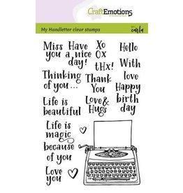 Craft Emotions CraftEmotions clearstamps A6 - handletter - typewriter quotes (Eng) Carla Kamphuis