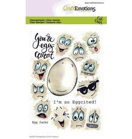 Craft Emotions CraftEmotions clearstamps A6 - Egg faces Carla Creaties
