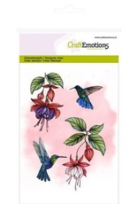Craft Emotions CraftEmotions clearstamps A6 - fuchsia kolibrie
